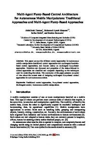 Multi-Agent Fuzzy-Based Control Architecture for Autonomous Mobile ...