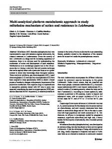 Multi-analytical platform metabolomic approach to