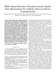 Multi-channel resource allocation towards ergodic ... - Communications