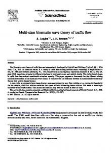 Multi-class kinematic wave theory of traffic flow