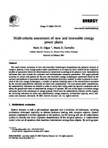 Multi-criteria assessment of new and renewable energy power plants