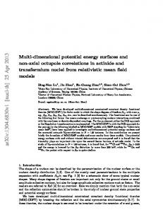 Multi-dimensional potential energy surfaces and non-axial octupole ...