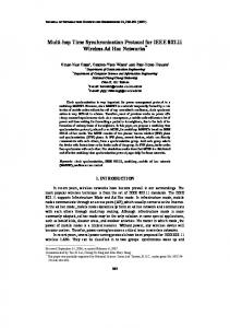 Multi-hop Time Synchronization Protocol for IEEE 802.11 ... - CiteSeerX