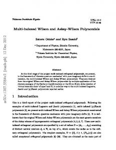 Multi-indexed Wilson and Askey-Wilson Polynomials