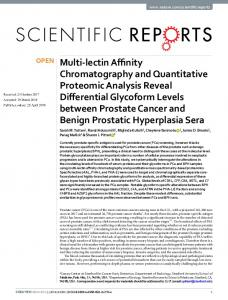 Multi-lectin Affinity Chromatography and Quantitative Proteomic