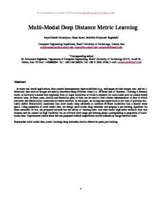 Multi-Modal Deep Distance Metric Learning