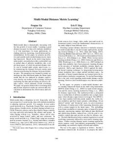 Multi-Modal Distance Metric Learning - Ijcai