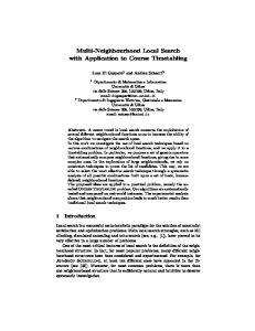 Multi-Neighbourhood Local Search with ... - Semantic Scholar
