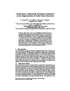 Multi-object Deformable Templates Dedicated to the ... - CiteSeerX