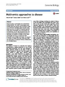 Multi-omics approaches to disease