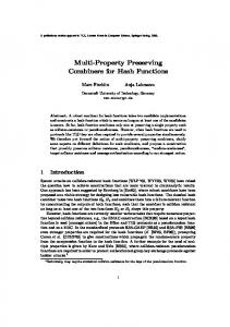 Multi-Property Preserving Combiners for Hash Functions