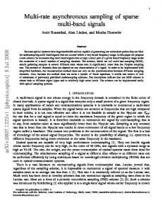 Multi-rate asynchronous sampling of sparse multi-band signals - arXiv