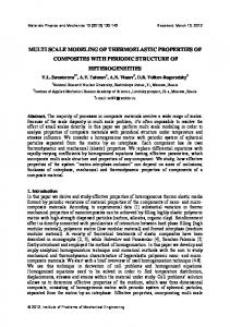 multi scale modeling of thermoelastic properties of composites with