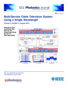 Multi-Service Cable Television System Using a Single ... - IEEE Xplore