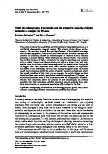 Multi-site ethnography, hypermedia and the productive hazards of ...
