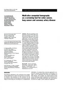 Multi-slice computed tomography as a screening tool ... - Springer Link