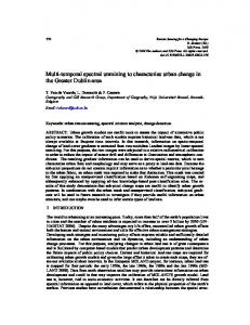 Multi-temporal spectral unmixing to characterise urban change ... - ULg