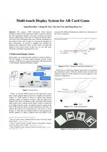 Multi-touch Display System for AR Card Game