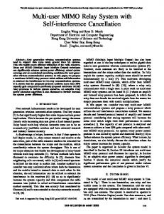 Multi-User MIMO Relay System with Self ... - Semantic Scholar