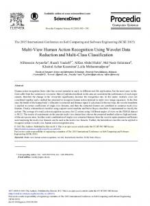 Multi-View Human Action Recognition Using Wavelet ... - ScienceDirect