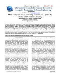 Multi-viewpoint Based Similarity Measure and