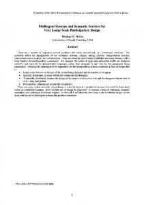Multiagent Systems and Semantic Services for Very ... - IEEE Xplore