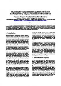 multiagent systems for supporting and