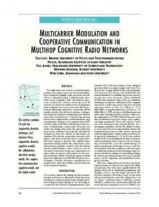 multicarrier modulation and cooperative communication in ... - CiteSeerX