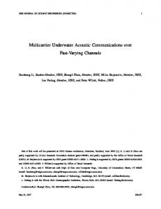 Multicarrier Underwater Acoustic Communications over ... - CiteSeerX