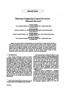 Multicast Congestion Control for Active Network Services