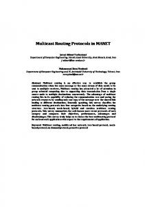Multicast Routing Protocols in MANET - Semantic Scholar