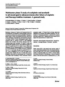 Multicenter phase II study of oxaliplatin and sorafenib ... - Springer Link