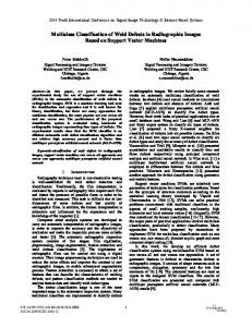 Multiclass Classification of Weld Defects in Radiographic Images ...