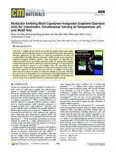 Multicolor Emitting Block Copolymer-Integrated ... - ACS Publications