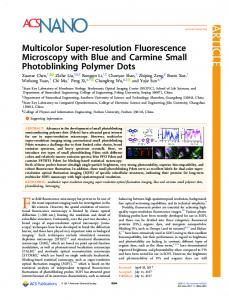 Multicolor Super-resolution Fluorescence ... - ACS Publications