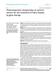 Multicomponent nanoparticles as nonviral vectors ... - Semantic Scholar