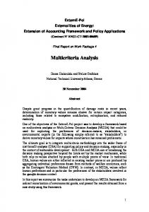 Multicriteria Analysis - ExternE project
