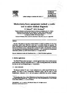 Multicriteria fuzzy assignment method: a useful tool to assist medical ...