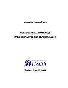 Multicultural Awareness For Prehospital EMS Professionals ...