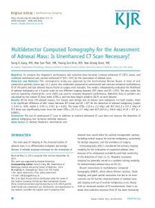 Multidetector Computed Tomography for the ... - KoreaMed Synapse