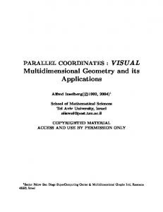 Multidimensional Geometry and its Applications