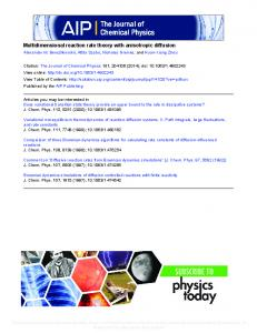 Multidimensional reaction rate theory with anisotropic diffusion