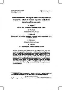 Multidimensional scaling of emotional responses to music: The ... - LEAD