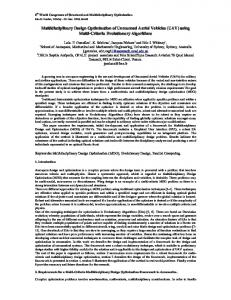 Multidisciplinary Design Optimisation of Unmanned Aerial ... - Core