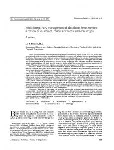 Multidisciplinary management of childhood brain tumors: a review of ...