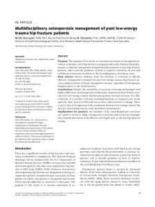 Multidisciplinary osteoporosis management of ... - Wiley Online Library