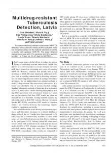 Multidrug-resistant Tuberculosis Detection, Latvia - CDC stacks