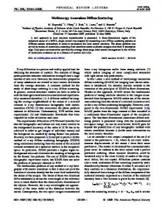 Multienergy Anomalous Diffuse Scattering - Physical Review Link