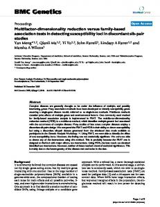 Multifactor-dimensionality reduction versus family-based association ...
