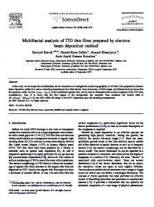 Multifractal analysis of ITO thin films prepared by electron beam ...